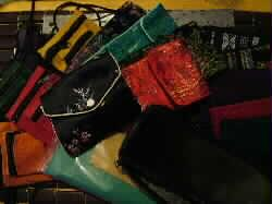Pouch Satin Fancy Protective Horn Combs etc.