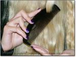 "BLACK MOON SCRITCHER 6"" Stimulating Ox Horn Comb - Image #3"