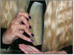 """LARGEST WHITE MOON SCRITCHER 5-5.5"""" Stimulating Sheep Horn Comb - Image #2"""