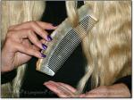 """RAW BEAUTY SCRITCHER 6-6.25"""" Stimulating Sheep Horn Comb - Image #3"""