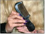 "CLASSIC SCRITCHER BLACK 6.5"" Stimulating Black Ox Horn Comb"