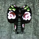Geisha Baby Butterfly Rose Hand-Painted Long Hair Up-Do Clips