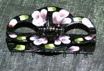 Geisha Medium Scalloped Rose Hand-Painted Long Hair Up-Do Clips