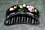 Geisha Big-Mouth Rose Hand-Painted Long Hair Up-Do Clips
