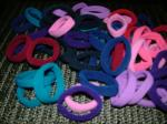 Hair Ties Med or xLg Super-Snug-Hold by Longhairs® No-Metal